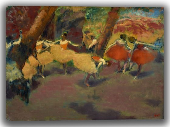 Degas, Edgar: Before the Performance. Fine Art Canvas. Sizes: A4/A3/A2/A1 (003739)